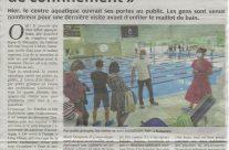 NR du 6Juin 2021 : Ouverture du Centre aquatique BALSAN'éo