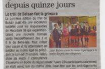 """Depuis 2016  """"Trail du Parc Balsan"""""""