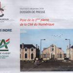 """5 décembre 2018 Pose de la 1ère pierre de la """"Cité du Numérique"""" sur le site Balsan"""